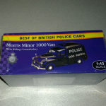 Atlas editions Best of British police cars  Morris Minor 1000 Van dog patrol Police 1:43 @sold@